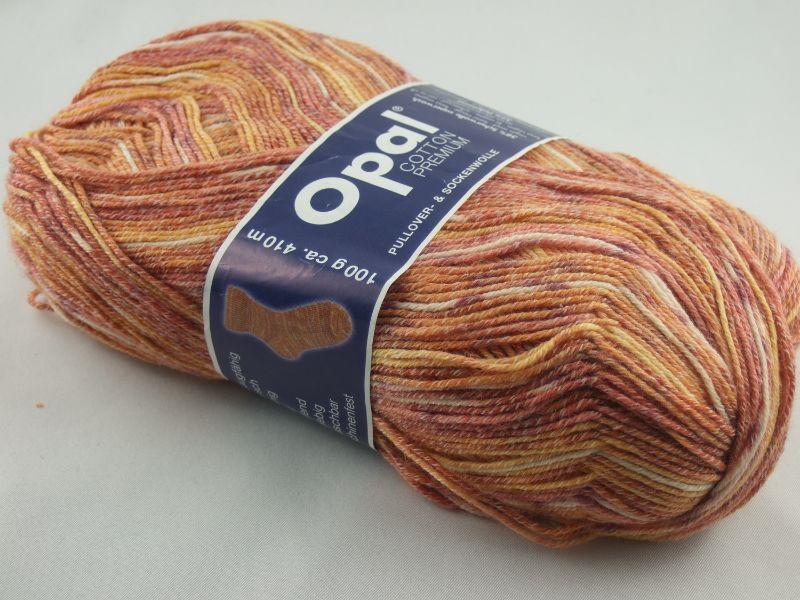 - schöne 4-fach Sockenwolle Cotton Premium von Opal in terra, Farbe Nr. 5616 - schöne 4-fach Sockenwolle Cotton Premium von Opal in terra, Farbe Nr. 5616