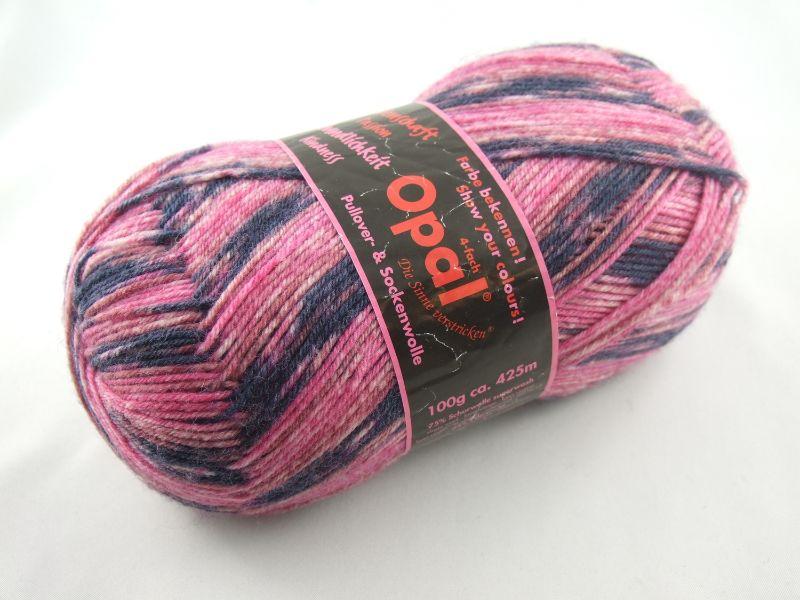 - schöne 4-fach Sockenwolle von Opal Farbe bekennen in pink und dunkelblau, Farbe Nr. 4082 - schöne 4-fach Sockenwolle von Opal Farbe bekennen in pink und dunkelblau, Farbe Nr. 4082