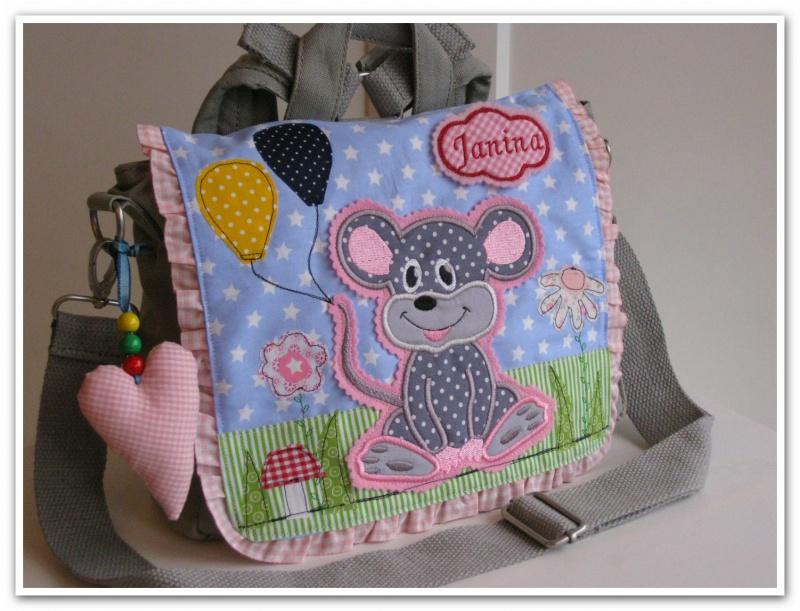 Kleinesbild -  Kindergartenrucksack Maus ... mit Name ----> SOFORT ZU HABEN