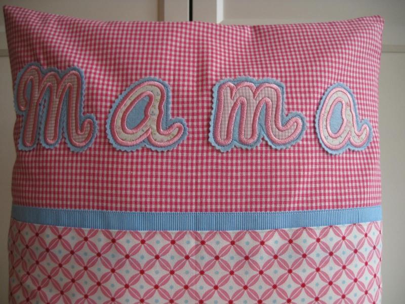 Kleinesbild - Kissen    ★Mama★    40x40 - sofort zu haben  -- zum Muttertag -- für Mama
