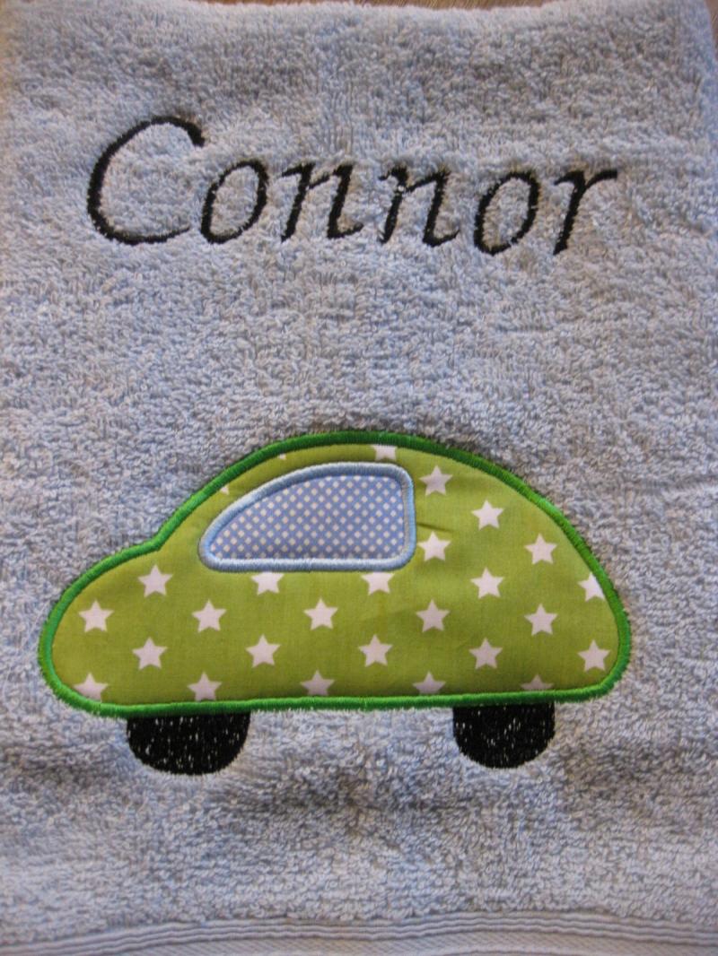 Kleinesbild - ★ Handtuch   mit Motiv und Name ★ Gästehandtuch ★ personalisierbar ★ Handtuch bestickt