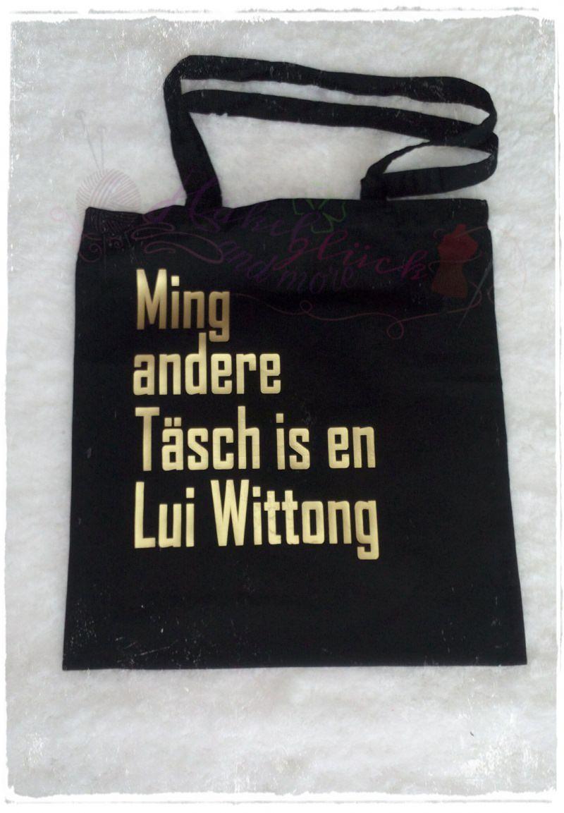 - Baumwollbeutel ☆ Ming andere Täsch ☆ schwarz/gold - Baumwollbeutel ☆ Ming andere Täsch ☆ schwarz/gold