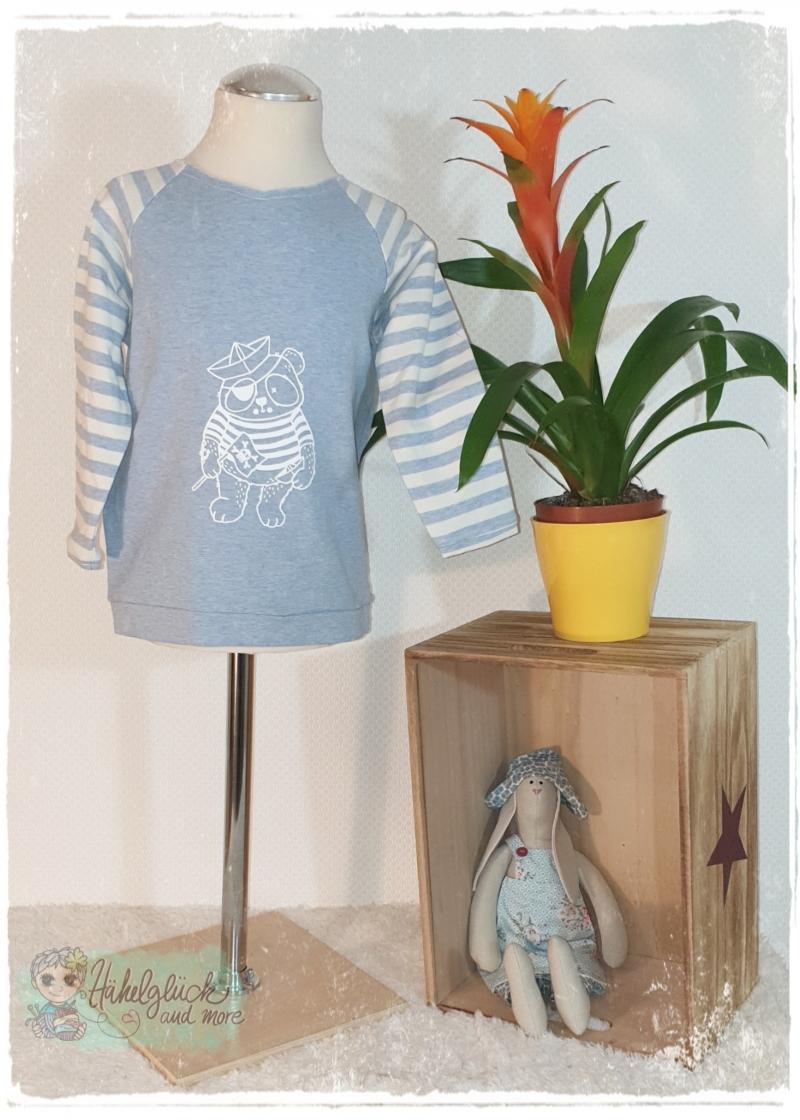 - Langarmshirt ♥Piratenpanda♥ Gr.104/110 - Langarmshirt ♥Piratenpanda♥ Gr.104/110
