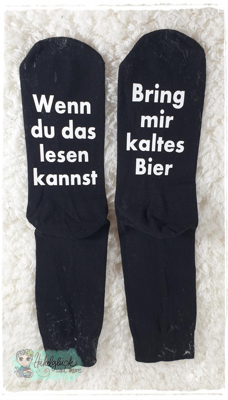 - witzige Socken mit Spruch - Bring mir Bier - witzige Socken mit Spruch - Bring mir Bier