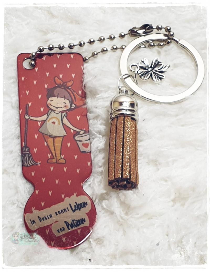 - Einkaufswagenlöser ♥ Schlüsselanhänger ♥ Leben kommt vor Putzen - Einkaufswagenlöser ♥ Schlüsselanhänger ♥ Leben kommt vor Putzen
