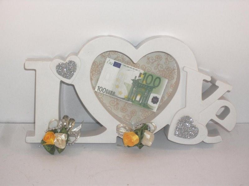 Anlasse Geldgeschenk Zur Hochzeit Bilderrahmen Love Orange Creme