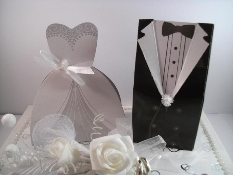 Kleinesbild - Geldgeschenk, Hochzeit, Vermählung, Geschenkschachtel, ganz edel in weiß-silber