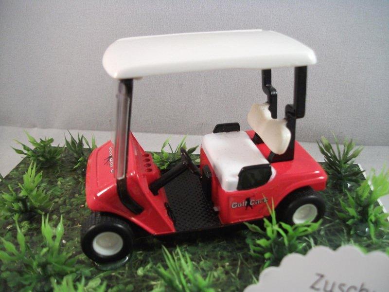 Kleinesbild - Geldgeschenk für einen Golfkurs, Geburtstag, Golf, Golfmobil, rot