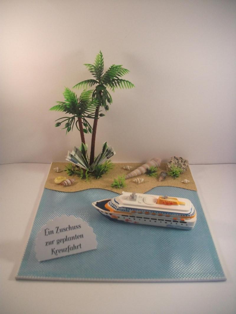 Kleinesbild - Geldgeschenk für eine Kreuzfahrt, Geburtstag, Seereise, Urlaub, Schiff, Meer, Ozean