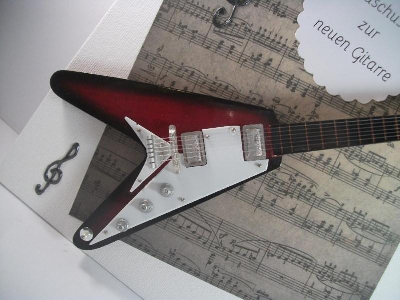 Kleinesbild - Geldgeschenk, Geburtstag,  Musik, Gitarre, E-Gitarre, Deko, Notenheft, Musikunterricht, Gitarrestunden