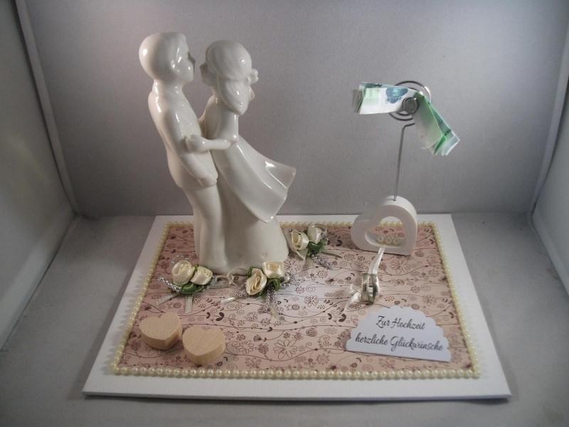 Kleinesbild - Geldgeschenk Hochzeit, Brautpaar, Vermählung, auch für Porzellanhochzeit, 20 Jahre Ehe