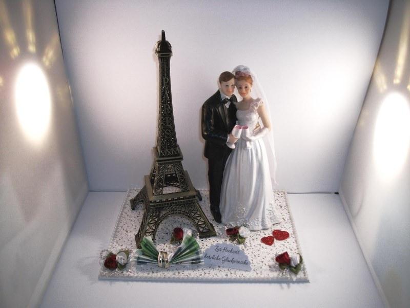 - Geldgeschenk Hochzeit, Paris, Eiffelturm, groß, Brautpaar mit Sektgläsern, Frankreich, Flitterwochen - Geldgeschenk Hochzeit, Paris, Eiffelturm, groß, Brautpaar mit Sektgläsern, Frankreich, Flitterwochen