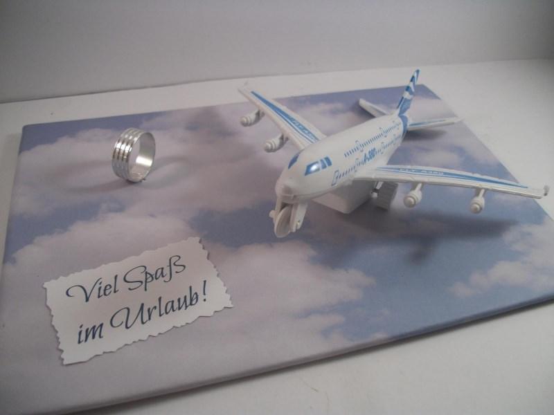 Kleinesbild - Geldgeschenk Urlaub, Geburtstag, Urlaubsgeld, Flieger, fliegen, Flugreise
