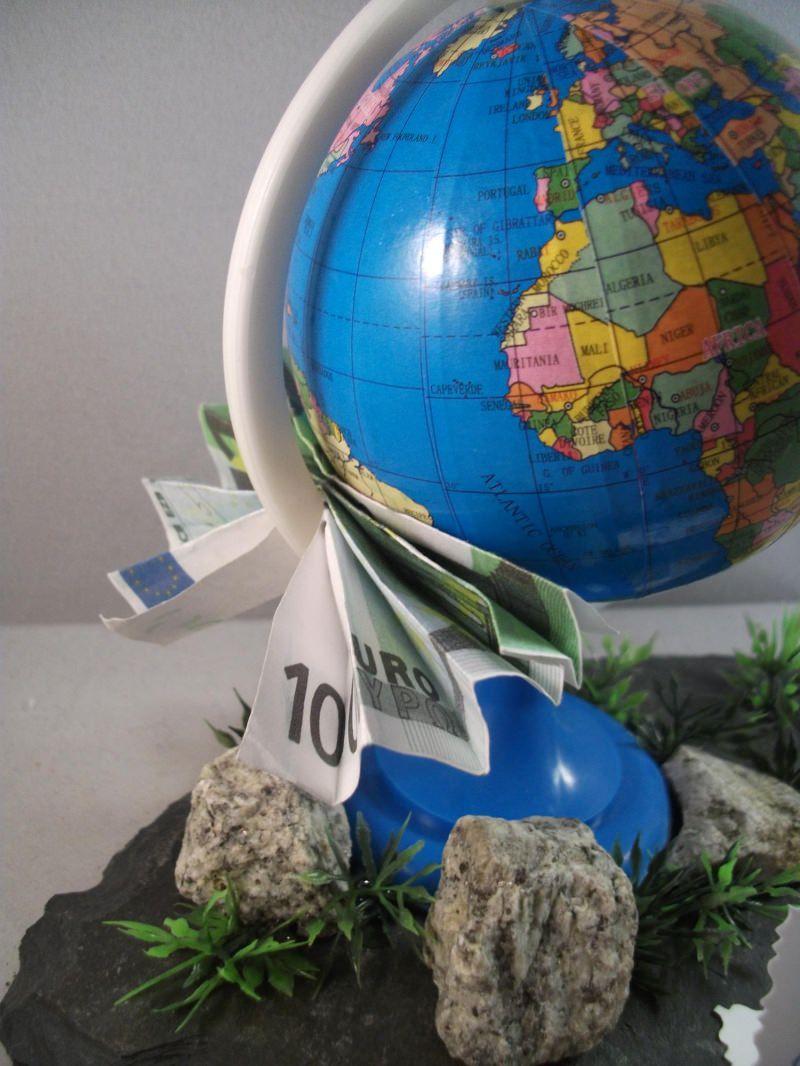 Kleinesbild - Geldgeschenk, Urlaub, Geburtstag, Urlaubsgeld, Globus, Weltreise, Reise, verreisen