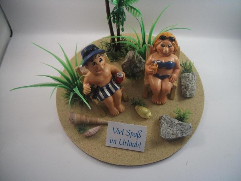 Kleinesbild - Geldgeschenk Geburtstag, Urlaub, Urlaubsgeld, Strandurlaub, lustig, humorvoll