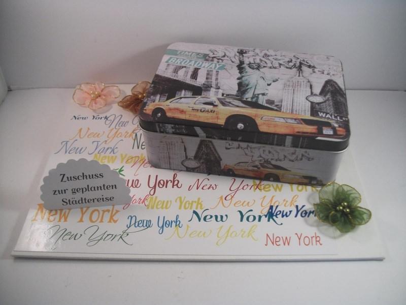 Kleinesbild - Geldgeschenk Geburtstag, Urlaub, Städtereise New York, Gutschein, Reise, Amerika