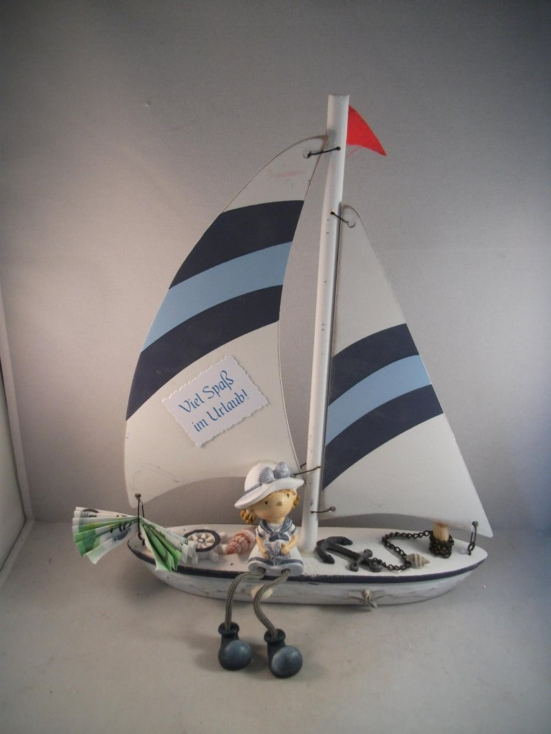 Anlasse Geldgeschenk Geburtstag Urlaub Urlaubsgeld Segelboot