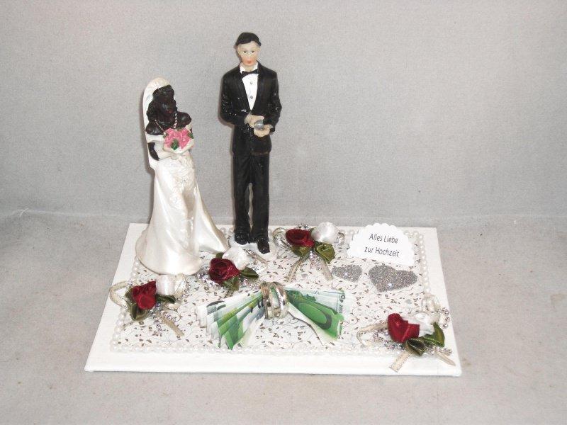 - Hochzeit, Geldgeschenk, Braut oder Bräutigam farbig dunkelhäutig, Wunschzusammenstellung - Hochzeit, Geldgeschenk, Braut oder Bräutigam farbig dunkelhäutig, Wunschzusammenstellung