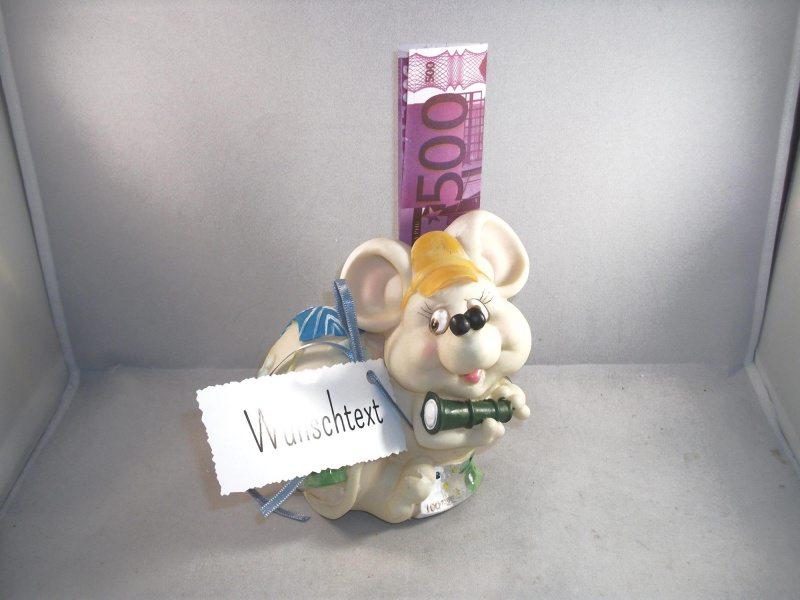 Anlasse Geldgeschenk Spardose Maus Mause Geburtstag