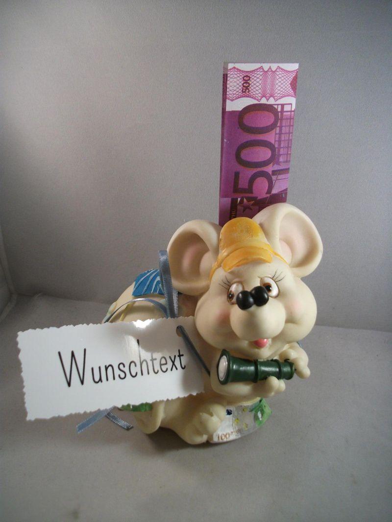Kleinesbild - Geldgeschenk, Spardose, Maus, Mäuse, Geburtstag, Jugendweihe, Jubiläum, Prüfung