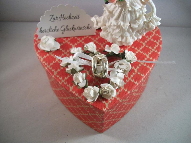 Kleinesbild - Geldgeschenk Hochzeit, Geschenkschachtel, Herzschachtel, romantisch