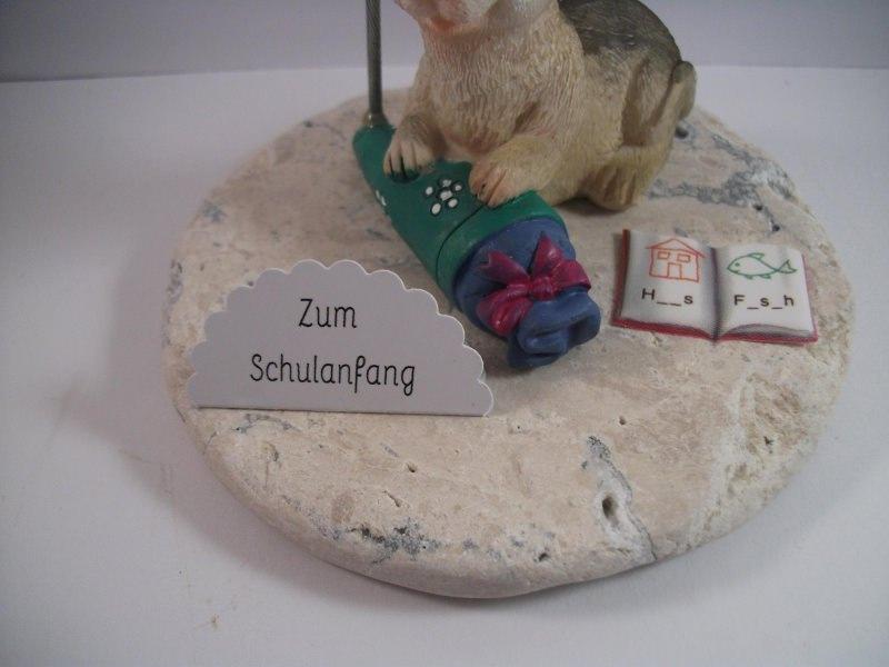 Kleinesbild - Geldgeschenk, Schulanfang, Einschulung, Schule, 1. Schultag, Maus mit Schultüte