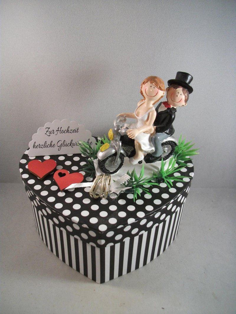 Kleinesbild - Geldgeschenk zur Hochzeit für Biker, Motorrad, Motorradfahrer heiraten