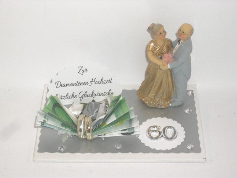 Anlasse Geldgeschenk Diamantene Hochzeit 60 Ehejubilaum Lange Ehe