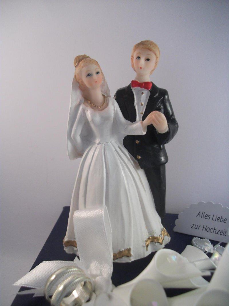 Kleinesbild - Geldgeschenk Hochzeit, Brautpaar Geschenkschachtel, romantisch, Herzen
