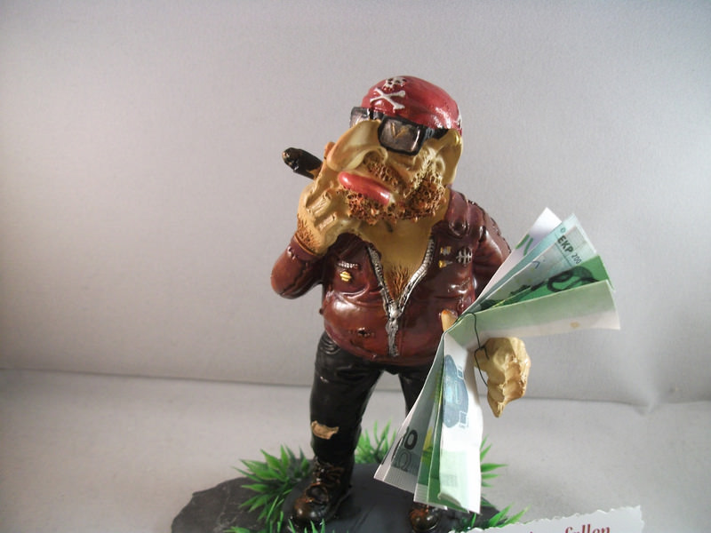 Kleinesbild - Geldgeschenk-Idee für den coolen Mann, Geburtstag, Biker, Rocker, humorvoll, lustig, Zigarre, Raucher