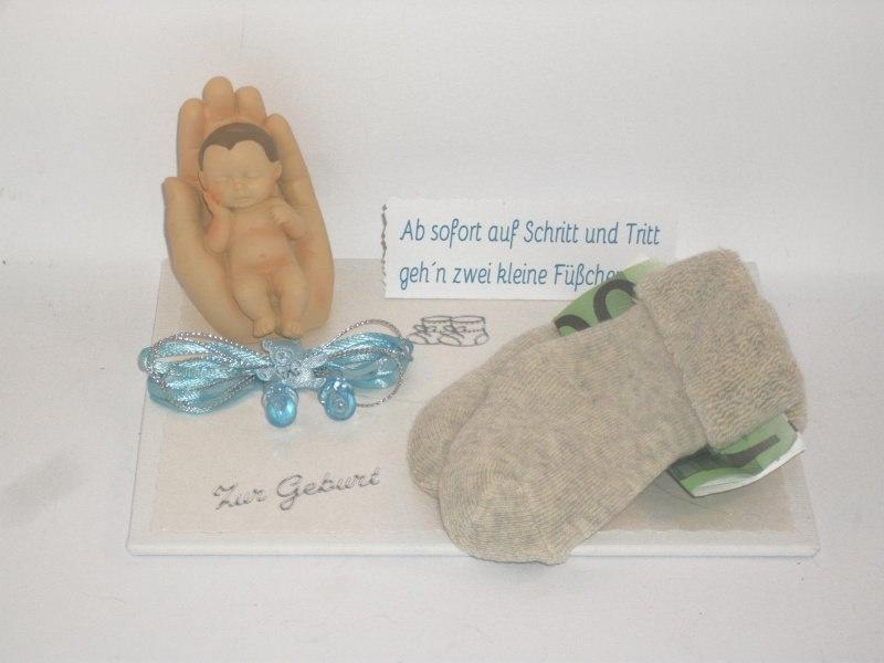 - Geldgeschenk zur Geburt oder Taufe, Junge, Erstlingssöckchen, Söckchen - Geldgeschenk zur Geburt oder Taufe, Junge, Erstlingssöckchen, Söckchen
