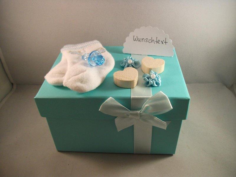 Kleinesbild - Geldgeschenk zur Geburt eines Jungen, mit Söckchen, Erstlingssöckchen, Baby, Säugling