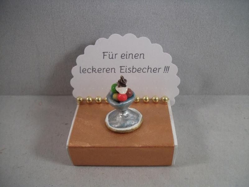 Anlasse Geldgeschenk Geburtstag Streichholzschachtel Eisbecher