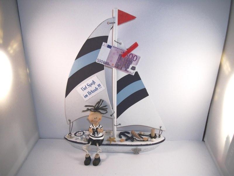 - Geldgeschenk Urlaub, Urlaubsgeld, Geburtstag, Segelboot, Matrose, Schiffsreise, Boot  - Geldgeschenk Urlaub, Urlaubsgeld, Geburtstag, Segelboot, Matrose, Schiffsreise, Boot