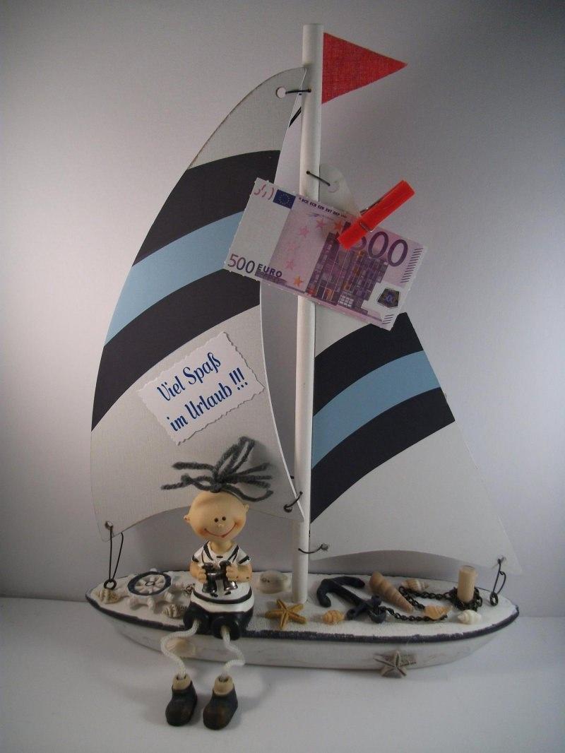 Anlasse Geldgeschenk Urlaub Urlaubsgeld Geburtstag Segelboot