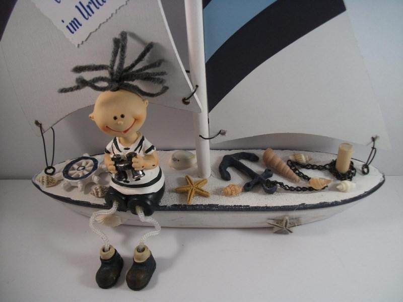 Kleinesbild - Geldgeschenk Urlaub, Urlaubsgeld, Geburtstag, Segelboot, Matrose, Schiffsreise, Boot