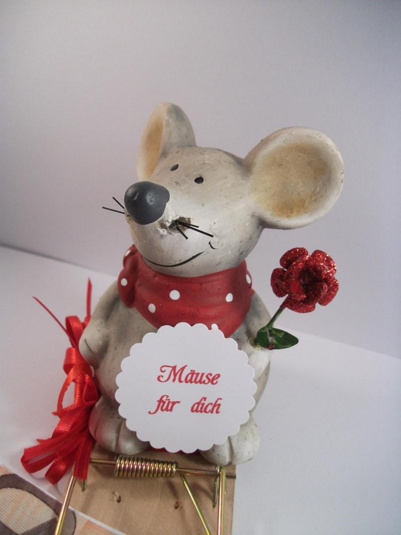 Kleinesbild - Geldgeschenk, Mausefalle ganz in rot, Geburtstag, Jugendweihe, Muttertag, Valentinstag
