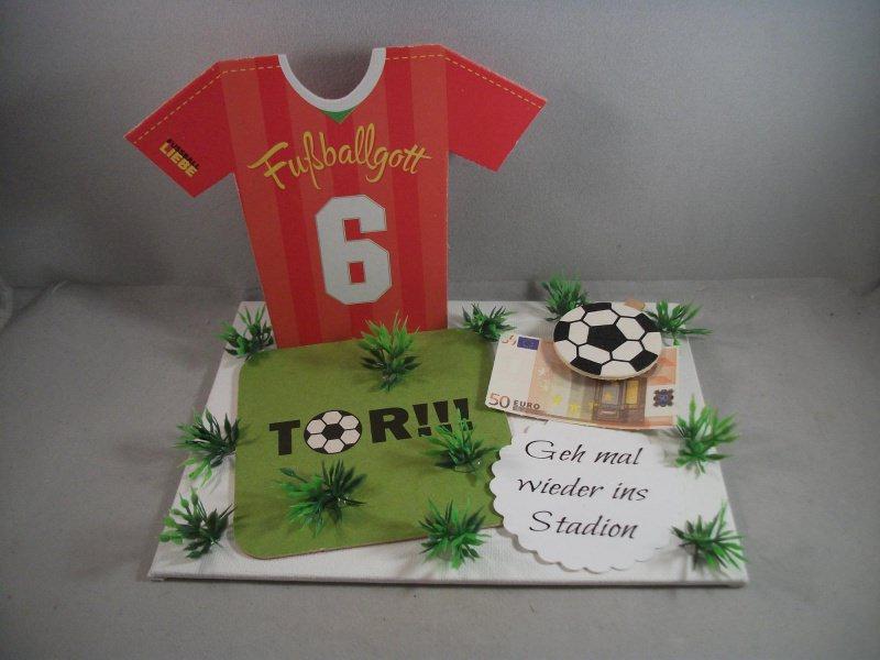 Kleinesbild - Geldgeschenk für Männer, Geburtstag, Sport, Fußball, Stadion, Verein, Fußballspiel, Fußballer, Trikot, Fußball-Trikot