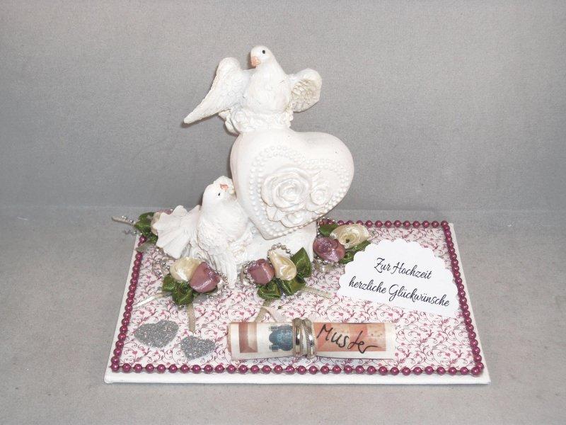 - Hochzeit, Geldgeschenk, Tauben, Ringe, Rosen, Herz, Skulptur - Hochzeit, Geldgeschenk, Tauben, Ringe, Rosen, Herz, Skulptur