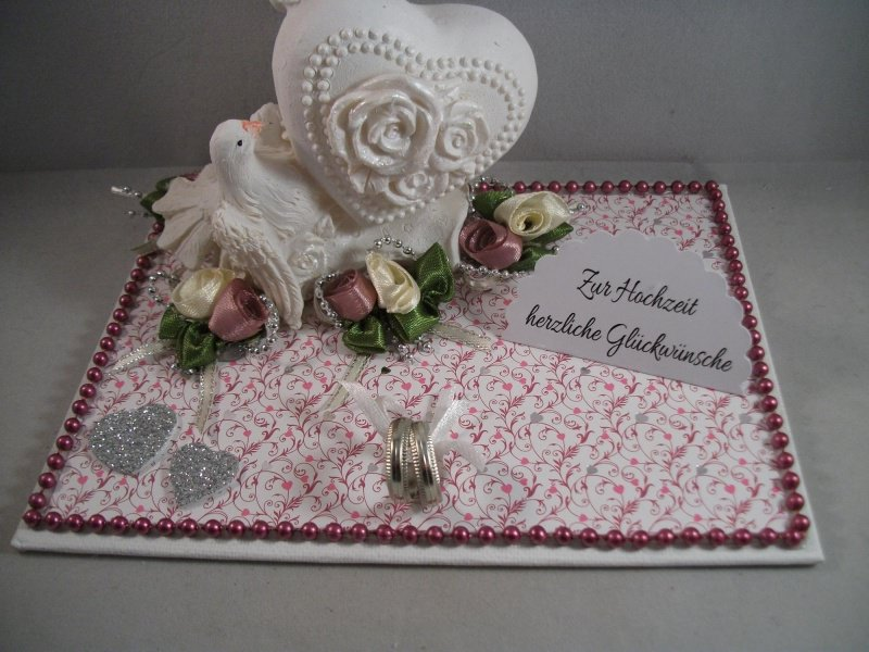Kleinesbild - Hochzeit, Geldgeschenk, Tauben, Ringe, Rosen, Herz, Skulptur