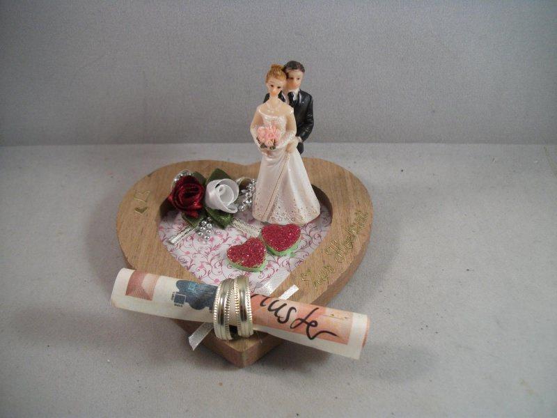 Kleinesbild - Geldgeschenk, Hochzeit, Ehe, Vermählung, Herz, kleines Geschenk