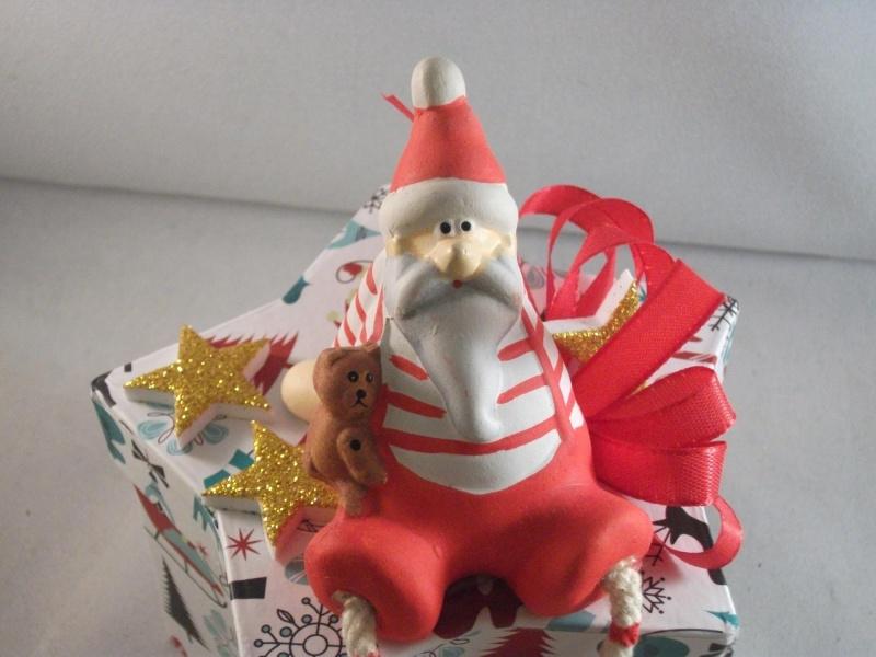 Kleinesbild - Geldgeschenk, Geschenkschachtel, Sternschachtel, Weihnachten, mit lustigem Nikolaus
