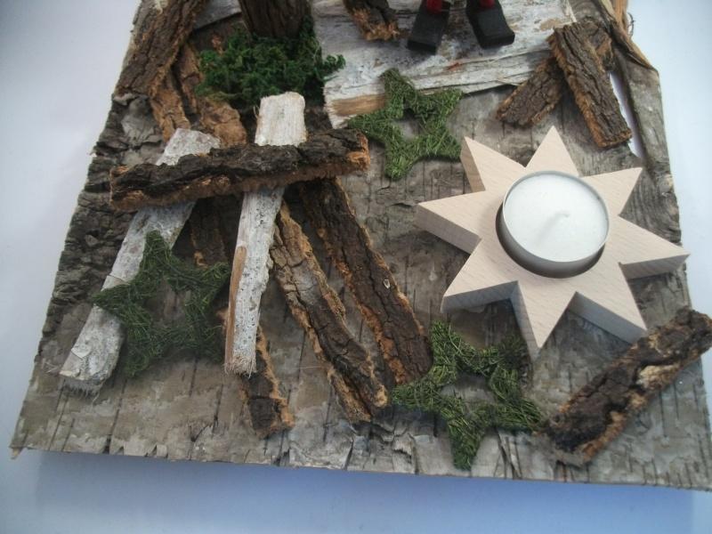 Kleinesbild - weihnachtliche Tischdekoration aus Naturmaterial, Advent, auch als Geldgeschenk verwendbar