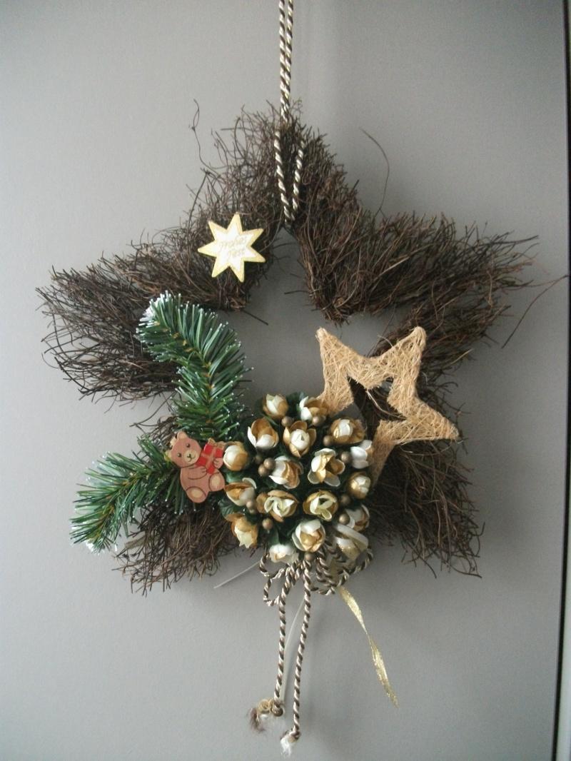 Kleinesbild - Rebenstern als Wanddekoration und Türdekoration zu Weihnachten, auch als Geldgeschenk