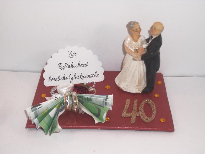 - Geldgeschenk Rubinhochzeit, 40, Ehejubiläum, Rubin, 40 Jahre verheiratet - Geldgeschenk Rubinhochzeit, 40, Ehejubiläum, Rubin, 40 Jahre verheiratet