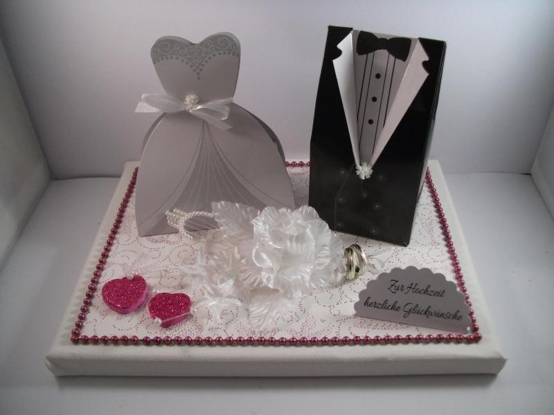 Kleinesbild - Geldgeschenk, Hochzeit, Vermählung, Geschenkschachtel, ganz edel in Farbe mauve