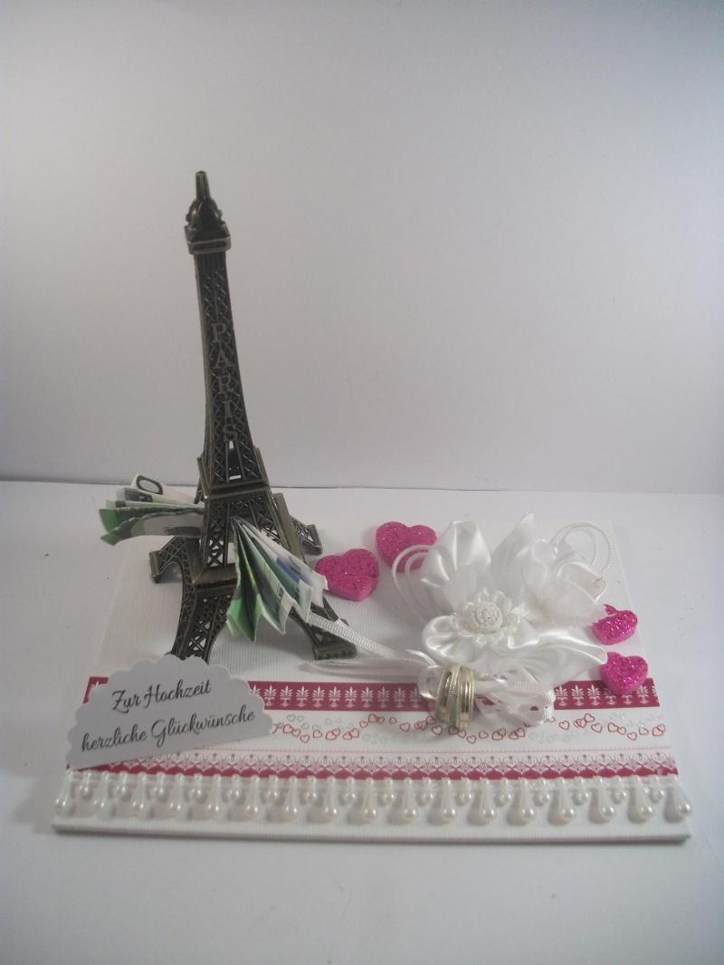 Kleinesbild - Geldgeschenk Hochzeit, Paris, Eiffelturm, Reise, Hochzeitsreise, Flitterwochen, Frankreich
