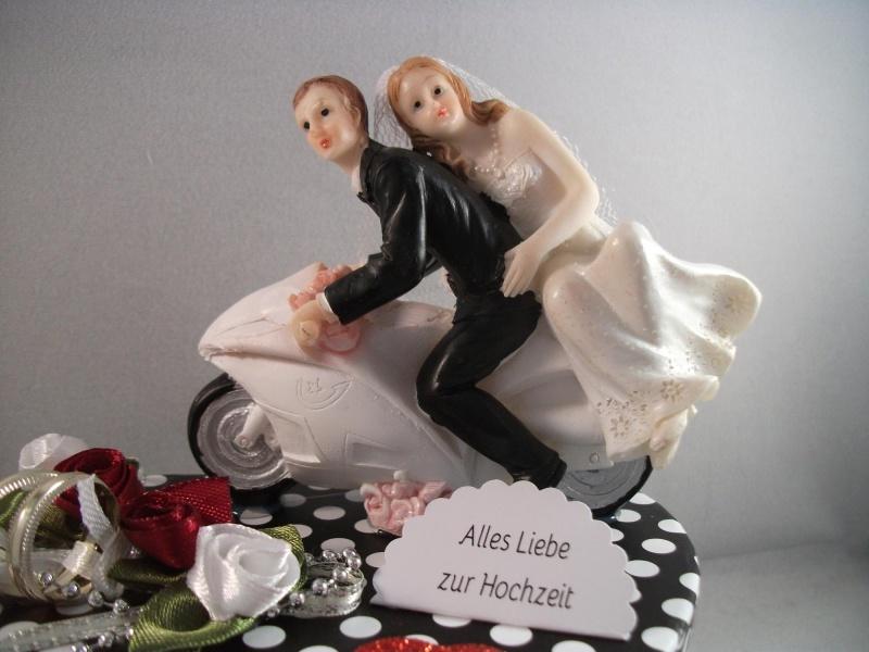 Kleinesbild - Geldgeschenk Hochzeit, Biker, Motorrad, Roller, Motorradfahrer, Biker-Hochzeit, Herzschachtel