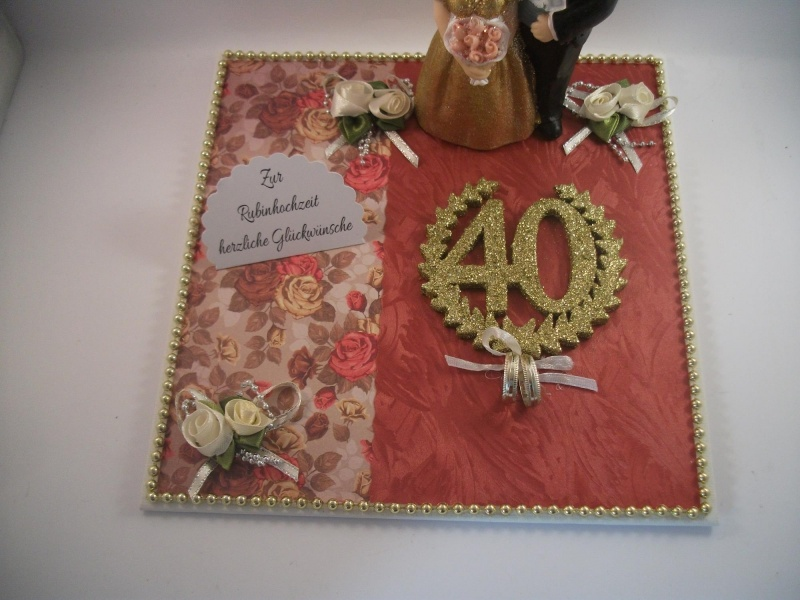 Kleinesbild - Geldgeschenk Rubinhochzeit, 40, Ehejubiläum, Rubin, 40 Jahre verheiratet