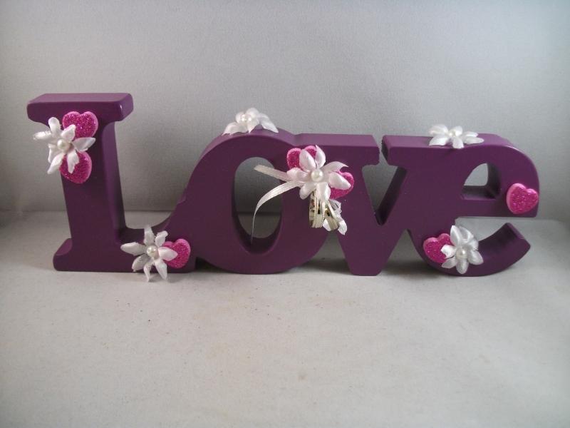 Kleinesbild - Geldgeschenk zur Hochzeit, Liebe, Love, Schriftzug, Holz lackiert
